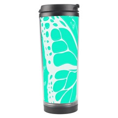 Butterfly Cut Out Flowers Travel Tumbler by Simbadda