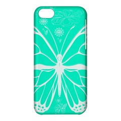 Butterfly Cut Out Flowers Apple Iphone 5c Hardshell Case by Simbadda