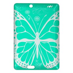 Butterfly Cut Out Flowers Amazon Kindle Fire Hd (2013) Hardshell Case by Simbadda