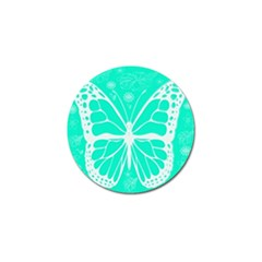 Butterfly Cut Out Flowers Golf Ball Marker by Simbadda