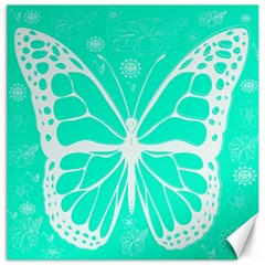 Butterfly Cut Out Flowers Canvas 12  X 12   by Simbadda