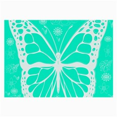 Butterfly Cut Out Flowers Large Glasses Cloth (2 Side) by Simbadda