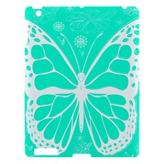 Butterfly Cut Out Flowers Apple Ipad 3/4 Hardshell Case by Simbadda