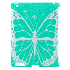 Butterfly Cut Out Flowers Apple Ipad 3/4 Hardshell Case (compatible With Smart Cover) by Simbadda