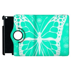 Butterfly Cut Out Flowers Apple Ipad 3/4 Flip 360 Case by Simbadda