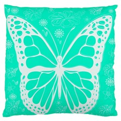 Butterfly Cut Out Flowers Standard Flano Cushion Case (two Sides) by Simbadda