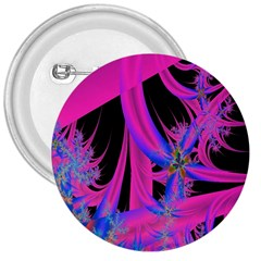 Fractal In Bright Pink And Blue 3  Buttons by Simbadda