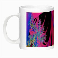 Fractal In Bright Pink And Blue Night Luminous Mugs