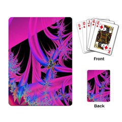 Fractal In Bright Pink And Blue Playing Card by Simbadda