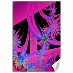 Fractal In Bright Pink And Blue Canvas 12  X 18   by Simbadda