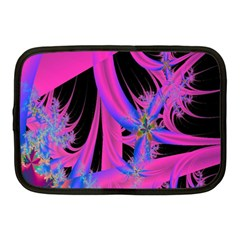 Fractal In Bright Pink And Blue Netbook Case (medium)  by Simbadda