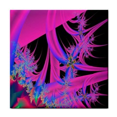 Fractal In Bright Pink And Blue Face Towel by Simbadda