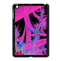 Fractal In Bright Pink And Blue Apple iPad Mini Case (Black) by Simbadda