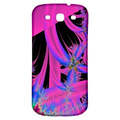 Fractal In Bright Pink And Blue Samsung Galaxy S3 S Iii Classic Hardshell Back Case by Simbadda