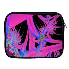 Fractal In Bright Pink And Blue Apple Ipad 2/3/4 Zipper Cases by Simbadda