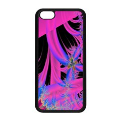 Fractal In Bright Pink And Blue Apple Iphone 5c Seamless Case (black) by Simbadda