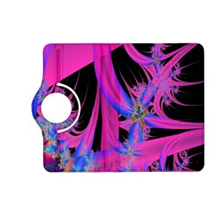 Fractal In Bright Pink And Blue Kindle Fire Hd (2013) Flip 360 Case by Simbadda