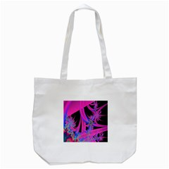 Fractal In Bright Pink And Blue Tote Bag (white) by Simbadda