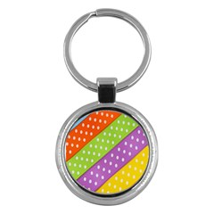 Colorful Easter Ribbon Background Key Chains (round)  by Simbadda