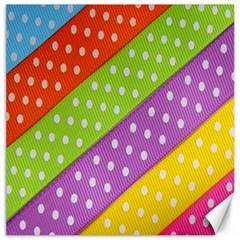 Colorful Easter Ribbon Background Canvas 16  X 16   by Simbadda