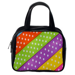 Colorful Easter Ribbon Background Classic Handbags (one Side) by Simbadda
