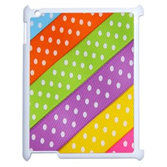 Colorful Easter Ribbon Background Apple Ipad 2 Case (white) by Simbadda