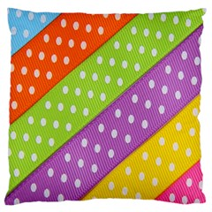 Colorful Easter Ribbon Background Large Cushion Case (one Side) by Simbadda