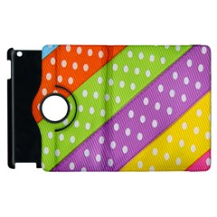 Colorful Easter Ribbon Background Apple Ipad 2 Flip 360 Case by Simbadda