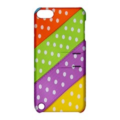 Colorful Easter Ribbon Background Apple Ipod Touch 5 Hardshell Case With Stand by Simbadda