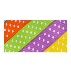 Colorful Easter Ribbon Background Satin Wrap by Simbadda