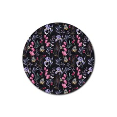 Wildflowers I Rubber Round Coaster (4 Pack)