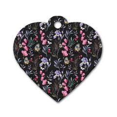 Wildflowers I Dog Tag Heart (two Sides)