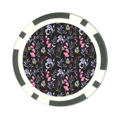 Wildflowers I Poker Chip Card Guard