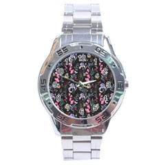 Wildflowers I Stainless Steel Analogue Watch