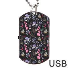 Wildflowers I Dog Tag Usb Flash (two Sides) by tarastyle