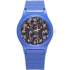 Wildflowers I Round Plastic Sport Watch (s) by tarastyle
