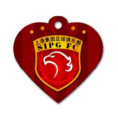 Shanghai Sipg F C  Dog Tag Heart (two Sides) by Valentinaart