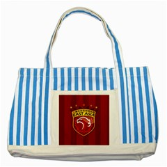 Shanghai Sipg F C  Striped Blue Tote Bag by Valentinaart