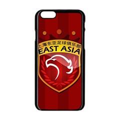 Shanghai Sipg F C  Apple Iphone 6/6s Black Enamel Case by Valentinaart