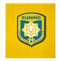 Jiangsu Suning F C  Shower Curtain 66  X 72  (large)  by Valentinaart