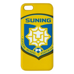 Jiangsu Suning F C  Apple Iphone 5 Premium Hardshell Case by Valentinaart