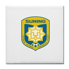 Jiangsu Suning F C  Tile Coasters by Valentinaart