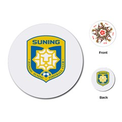 Jiangsu Suning F C  Playing Cards (round)  by Valentinaart