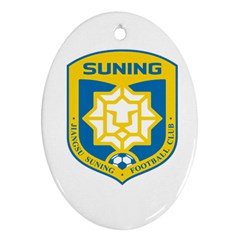 Jiangsu Suning F C  Oval Ornament (two Sides) by Valentinaart