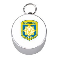 Jiangsu Suning F C  Mini Silver Compasses by Valentinaart