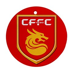 Hebei China Fortune F C  Round Ornament (two Sides) by Valentinaart