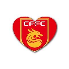 Hebei China Fortune F C  Heart Coaster (4 Pack)  by Valentinaart