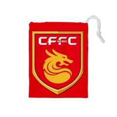 Hebei China Fortune F C  Drawstring Pouches (medium)  by Valentinaart