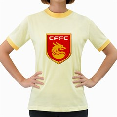 Hebei China Fortune F C  Women s Fitted Ringer T Shirts by Valentinaart