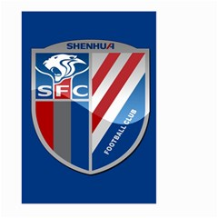 Shanghai Greenland Shenhua F C  Large Garden Flag (two Sides) by Valentinaart